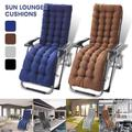 ODOMY Sun Lounger Cushions, Thicken Chair Recliner Cushions, Garden Patio Relaxer Cushion 48*170*8cm with Headgear for Travel Holiday Garden Indoor Outdoor