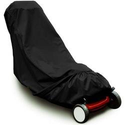 NOGIS Lawn Mower Cover Push Mower Cover, Waterproof Heavy Duty Polyester Oxford Lawnmower Covers UV Protection Universal Fit Lawn Mower Cover with Drawstring-19.7 X 39.4 X 75.2inch