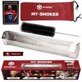 """Mycritee Hexagonal Pellet Smoker Tube 12"""" Premium Stainless Steel Hot and Cold Smoking 5 Hours of Smoke for all Grills or Smokers Brush + Canvas Bag + 3 eBooks for Grilling and Smoking Incl"""