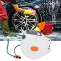 EBTOOLS Wall Mounted Hose Reel,Pipe Reel,Wall Mounted Retractable Garden Water Hose Reel with 20m Pipes Watering Equipment
