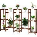 Kinbor Wooden Plant Stand Shelf Display Stand Multi Layer Storage Rack for Plants Home Garden Patio Corner Outdoor Indoor