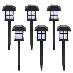 ROBOT-GXG Solar Pathway Lights - Led Path Lights Solar Powered - 6 Pack Solar Garden Lights Outdoor Wireless LED Solar Pathway Lights Led Landscape Lighting for Lawn Patio Yard Walkway