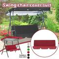 Swing Cover Chair Waterproof Foldable Cushion Patio Garden Yard Outdoor Seat Replacement, 60 x 20 x 4inch