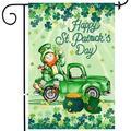Tree St Patricks Day Garden Flag, Double Sided Happy St. Patricks Day Burlap House Flags, Leprechaun Sat in The Irish Green Truck Flags 12x18 Prime, Shamrocks Garden Outdoor Decor