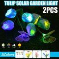 2 Pack Outdoor Solar Garden Stake Lights, Waterproof Tulip Flower Lights for Garden, Patio, Backyard, Novashion