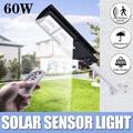 EVERKING 60W Solar Lights Outdoor, LED Solar Powered Street Light with Motion Sensor and Remote Control, Security Wireless Waterproof Solar Flood Light for Yard, Fence, Garden, Patio, Path
