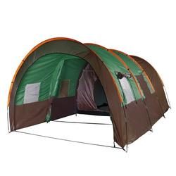 8-10 Persons Tunnel Tent, Oxford Cloth Double Layer Waterproof Anti-UV Tents Family House Tent with 3 Room, 5 Large Windows, Moisture-proof Pad, Divided Curtain for Outdoor Camping Party Rainproof