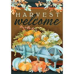Carson Garden Flag - Harvest Wheelbarrow