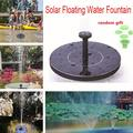 Solar Fountain Mini Portable Round Floating Fountain for Garden Backyard Pond Outdoor Decor
