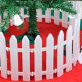 "50 pcs Garden Fence - 20"" Garden Decoration Border Set White Miniature Fairy Garden Fence DIY Grass Flower Bed Edging Landscape Edging Stakes for Home Garden Plant"