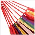 Brrnoo Outdoor Hammock,200*80cm Portable Polyester & Cotton Hammock Red Strip, Cotton Hammock