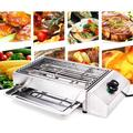 LOYALHEARTDY Electric Smokeless Grill, Stainless Steel Barbecue Oven Grill Electric grill with Oil Drip Pan