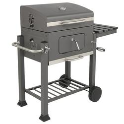 Outdoor Grills Charcoal for Patio, Portable BBQ Charcoal Grill with Bottom Shelf, Cooking Grate Charcoal Grill w/Temperature Gauge and Enameled Grate, Premium Cooking Grate for Steak Chicken, S9456
