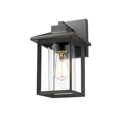 """Rosient Outdoor Wall Mount Lights, H11.84"""" Exterior Wall Sconces,Outdoor Wall Lighting Fixture,Exterior Wall Lantern, Wall Lamp Lighting Fixture for Patio, Porch (Black, 11.84""""H)"""