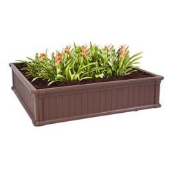 """Raised Planter Box, 48""""x48""""x11.8"""" Raised Bed Planter, Vegetable/Flower/Herb Elevated Garden Bed, Perfect for Garden, Patios, Balcony, JA2501"""
