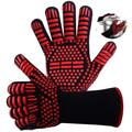 Barbecue Glove, Heat Resistant Glove, Oven Gloves Up to 800 ° C, Universal Heat Resistant Oven Gloves, for BBQ Grill Kitchen Cooking Oven Fireside Chimney. [1 Pair]