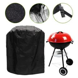 Barbecue Cover, Round BBQ Cover 210D Oxford Fabric Waterproof Dust-proof Anti-UV Indoor Outdoor BBQ Grill Cover, Garden Patio Furniture Protection,Waterproof Barbecue Cover 30-Inch Kettle BBQ Grill
