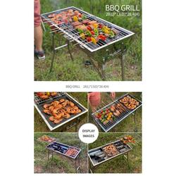 Lixada Charcoal Grills Portable BBQ - Stainless Steel Folding BBQ Camping Grill Large Portable Camping Cooking for Travel Grill Outdoor