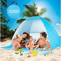 Large Beach Tent UV Pop Up Sun Shelter Tents, Big Portable Automatic Sun Umbrella, Waterproof/Windproof Instant Easy Outdoor Cabana, Fit 3-4 Persons for Camping, Hiking, Canopy with Carry Ba