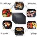 Cribun Grill Mat - 100% Non-Stick BBQ Grill Mats, Heavy Duty, Reusable, and Easy to Clean - Works on Electric Grill Gas Charcoal BBQ - 15.75 x 13-Inch, Black(Set of 5)