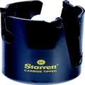 "Starrett MPH0358 Steel Tungsten Carbide Tipped Fastcut Multi-Purpose Hole Saw, Carbide Teeth, 3-5/8"" Diameter, 2-1/8"" Cutting Depth, 5/8""-18 Thread, Black"