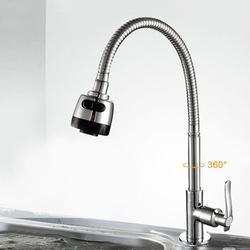 OTVIAP Stylish G1/2in Universal Bendable Home Kitchen Single Cold Water Tap Kitchen Sink Water Faucet,Water Faucet, Kitchen Water Tap