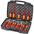 KNIPEX Tools 98 98 30 US, 1000V Insulated Pliers, Cutters, and Screwdriver Industrial Tool Set, 10-Piece