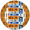Southwire 28829022 50' 10/2 with ground Romex brand SIMpull residential indoor electrical wire type NM-B Orange
