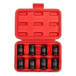 Sunex 2841 1/2-Inch Drive Pipe Plug Socket Set, Male/Female set, Cr-Mo, 7/16-Inch - 5/8-Inch Male, 7/16-Inch - 5/8-Inch Female, 8-Piece