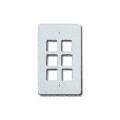 Allen Tel Products AT30-6-15 6 POS FACEPLATE - WHITE