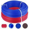 VEVOR PEX Tubing - 2 Rolls of 1/2 inch X 300 feet Tube Coil - EVOH PEX-B Pipe for Residential Commercial Radiant Floor Heating Pex Pipe 1/2 inch 2X 300ft