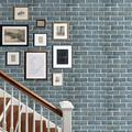 32.8*1.7ft 3D Wall Panels, 3D Visual Effects Foam Wall Panels Faux Brick Wallpaper Peel and Stick Dark Grey Red Color Painted Brick Wallpaper
