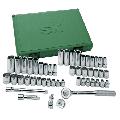 SK 94549 Fractional Socket Set - 3/8-In. Drive 6 Point Metric Tools, 49-Piece Plastic Socket Case. SuperKrome Finish Fractional Handtools
