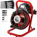 VEVOR Drain Auger Drain Snake 50 ft,Electric Drain Cleaner Clog Remover for Sewer,Bathroom,Sink and Shower with Diverse Cutters & Foot Switch & Work Gloves(50 ft x 1/2 inch)
