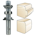 Whiteside Router Bits 2162 Double Round Over Bit with Carbide Tipped 3/16-Inch Radius, 1-1/4-Inch Large Diameter and 1/2-Inch Shank