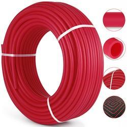 "VEVOR 3/4"" x 300ft PEX Tubing Oxygen Barrier O2 EVOH PEX-B Red Hydronic Radiant Floor Heat Heating System Pex Pipe Pex Tube (3/4"" 300ft, Red, Oxygen Barrier)"
