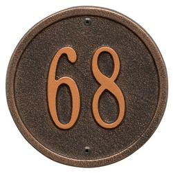 Personalized Whitehall Products 6-Inch One-Line Round Address Plaque in Oil-Rubbed Bronze