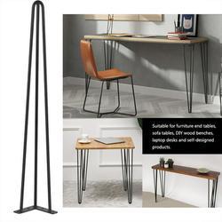 Wchiuoe Metal Table Legs,Table Legs,Set of 4 2-ROD Coffee Metal Table Hairpin Legs 28 30 Solid Iron Bar