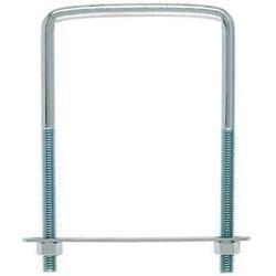 Hampton 3/8 in. x 4 in. W x 6 in. L Coarse Zinc-Plated Steel Square Bend U Bolt (Pack of 10)