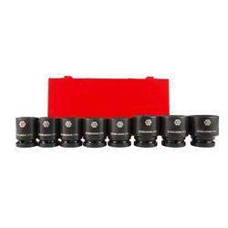 STEELMAN PRO 79278 8-Piece 3/4-Inch Drive 6-Point Impact Socket Set, Inch, includes 1, 1-1/16, 1-1/8, 1-3/16, 1-1/4, 1-3/8, 1-7/16, and 1-1/2-Inch Sockets