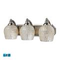 Bath Lighting 3 Light LED With Satin Nickel Finish Silver Mosaic Glass 20 inch 40.5 Watts - World of Lamp