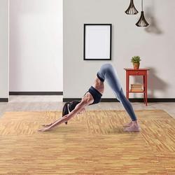 Lixada Soft Wood Grain EVA Puzzle Foam Interlocking Floor Mats 72 Square Feet Exercise Workout Mat Kid Play Mat 18pcs - Light Wood Grain