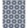 A-Street Prints by Brewster 2782-24506 Buttercup Blue Flower Wallpaper Blue