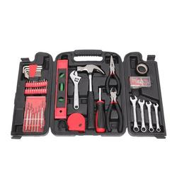 Mechanics Hand Tool Set, 136 Pcs Home Tool Kit, General Household Hand Tool Kit, Home Repair Basic Home Tool Kit with Tool Storage Case, Auto Mechanics Tool Kit for Home Maintenance, Red/Black, R3659