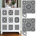 UKAP Arabic Style Mosaic Tile Stickers For Living Room Kitchen Retro 3D Waterproof Mural Decal Bathroom Decor DIY Adhesive Wallpaper