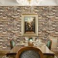 Stone Brick Wallpaper Peel and Stick Wallpaper Cleanable 3D Brick Wallpaper Self Adhesive Wallpaper Countertop Removable Wallpaper for Home Decoration Stone Brick Wallpaper 17.71� ×393.7�