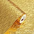 Lacyie 10M*53CM 3D Waterproof Glitter Mirror Effect Mini Mosaic Sparkle Light Reflection Gold Foil Silver Foil Wallpaper KTV Bar Counter Column Wallpaper
