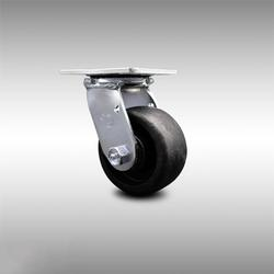 """Stainless Steel Glass Filled Nylon Swivel Top Plate Caster w/Maintenance Free Bearings & 4"""" x 2"""" Black Wheel - 800 lbs Capacity/Caster - Service Caster Brand"""