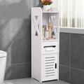 Bathroom Cabinet Rack Modern Wood Corner Floor Cabinet Bedroom Storage Shelf Toilet Storage Organizer Rack with Locker