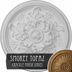 """13 7/8""""OD x 3 3/4""""ID x 1 1/4""""P Tirana Ceiling Medallion (Fits Canopies up to 4 3/4""""), Hand-Painted Silver"""